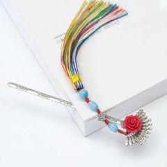 Creative Classical Metal Tassel Fan Bookmark