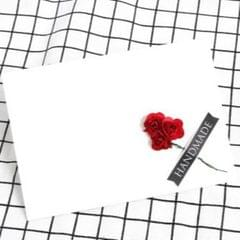 3 PCS Pearl Paper Envelope Creative DIY Invitation Letter Love Letter Postcard 6 Inch Photo Storage Folder (White Red Rose)