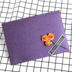 3 PCS Pearl Paper Envelope Creative DIY Invitation Letter Love Letter Postcard 6 Inch Photo Storage Folder (Purple Orange Rose)