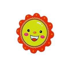 10 PCS Kindergarten tTeaching Aids Magnetic Reward Stickers Smiley Little Red Flower Refrigerator Blackboard Whiteboard Magnetic Stickers, Size:5�5cm (Red)