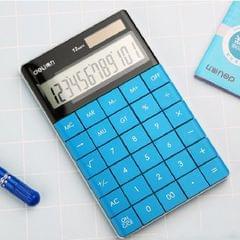 Deli 1589 Solar Large Button Calculator Office Business Colorful Portable Tablet Calculator (Blue)