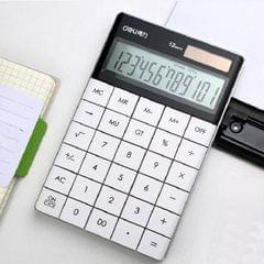 Deli 1589 Solar Large Button Calculator Office Business Colorful Portable Tablet Calculator (White)