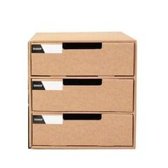 2 PCS A4 Paper Desktop Storage Box Student File Cabinet Storage Finishing Box Multi-layer Drawer Storage Cabinet (3 Layer)