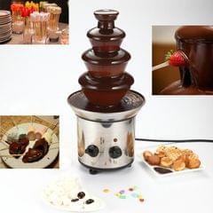 2 PCS 4 Layers Electrical Chocolate Fountain Chocolate Melt Fondue Waterfall Machine