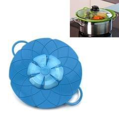 Silicone lid Spill Stopper Cover For Pot Pan Kitchen Accessories Cooking Tools Flower Cookware Utensil (Blue)