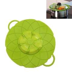 Silicone lid Spill Stopper Cover For Pot Pan Kitchen Accessories Cooking Tools Flower Cookware Utensil (Green)