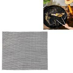 3 PCS Non-Stick Grid Sheet Teflon Barbecue Mat Grill Grid Mat, Size:36x42 cm (Black)