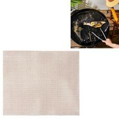 3 PCS Non-Stick Grid Sheet Teflon Barbecue Mat Grill Grid Mat, Size:36x42 cm (Brown)