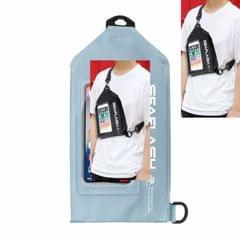 SEAFLASH Waterproof Riding Bag PVC Sports Waist Bag Crossbody Swimming Bag Drifting Waterproof Bag (Gray-blue)