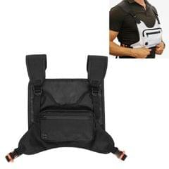 Multifunctional Outdoor Sports and Leisure Chest Bag Fitness Vest Bag (Black)