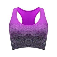 High Stretch Breathable Fitness Women Padded Sports Bra, Size:M (Violet)
