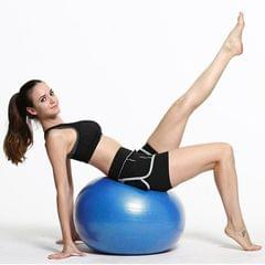 Thickening Explosion-proof Big Yoga Ball Sport Fitness Ball Environmental Pregnant Yoga Ball, Diameter: 55cm (Blue)