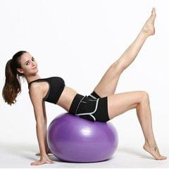 Thickening Explosion-proof Big Yoga Ball Sport Fitness Ball Environmental Pregnant Yoga Ball, Diameter: 55cm (Purple)