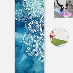 Yoga Mat Indoor Fitness Exercise Mat Ultra Thin Non Slip Sweat Absorbent Folding Portable Mat, Size:183 x 65cm (Annual Ring  Without Colloidal Particles)