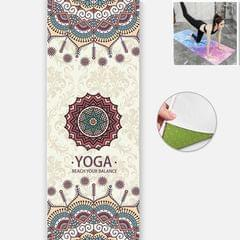 Yoga Mat Indoor Fitness Exercise Mat Ultra Thin Non Slip Sweat Absorbent Folding Portable Mat, Size:183 x 65cm (Cailian  Without Colloidal Particles)