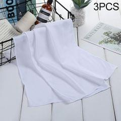 3 PCS Absorbent Polyester Quick-drying Breathable Cold-skinned Fitness Sports Portable Towel, Package:30x100 Clasp Cup (White)