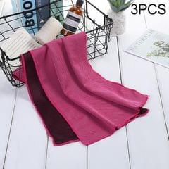 3 PCS Absorbent Polyester Quick-drying Breathable Cold-skinned Fitness Sports Portable Towel, Package:30x100 Clasp Cup (Magenta)