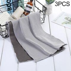 3 PCS Absorbent Polyester Quick-drying Breathable Cold-skinned Fitness Sports Portable Towel (Grey)