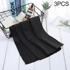 3 PCS Absorbent Polyester Quick-drying Breathable Cold-skinned Fitness Sports Portable Towel (Black)