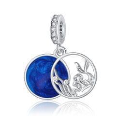 S925 Sterling Silver Fantasy Ocean Mermaid Pendant DIY Bracelet Necklace Accessories