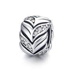 S925 Sterling Silver Wheat Zircon Beads DIY Bracelet Necklace Accessories