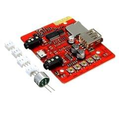 LDTR-WG0183 Stereo Audio Amplifier Module Wireless Bluetooth Receiver, USB Power, Support TF AUX (Red)