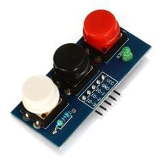 LDTR - Key3 3 - 6V Independent Key Touch Button Module External Keyboard with LED Power Indicator