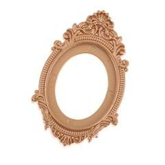 1/12 Scale Dollhouse Miniature Decoration European Vintage Style Golden Framed Mirror