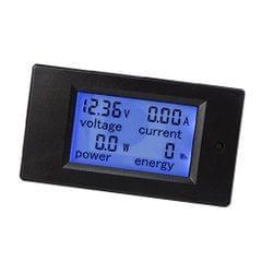 DC Voltmeter/Ammeter 4 in 1 LCD Digital Display Volt Current Power Meter
