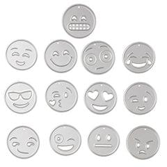 13 Pieces/Set Emoticon Metal Cutting Dies Stencil Scrapbook Paper Card Making Craft Embossing Tool Silver