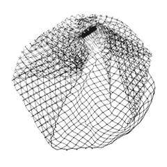 Black Wedding Bridal Birdcage Veil Fascinator with Hair Comb Clip