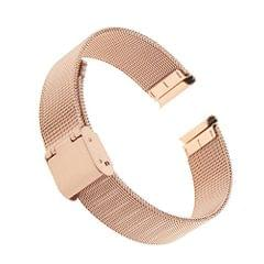 Unisex Luxury Stainless Steel Bracelet Strap Mesh Replacement Watch Band Rose Gold 16Mm