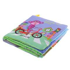 Baby Soft Cloth Nontoxic Fabric Books Rattle Early Educational Development Toys Learn Vehicles for Toddlers Infants Children Intellectual Kindergarten Preschool Learning Activity for Boys Girls