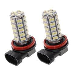 2 Piece 68 SMD Car White LED H8 H11 Fog Day Driving Bulb Light Lamp 12V