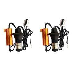2 Pieces BAU15S 4014 60SMD Dual Color Switchback Car Reverse Turn Signal Led Light