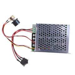 PWM 10-50V DC Motor Speed Control Reversible Regulator Adjustable Knob Driver Switch with Metal Box