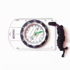 Professional Mini Compass Map Scale Ruler Multifunctional Equipment Outdoor Hiking Camping Survival