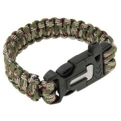 Multi-functional Outdoor Flint Nylon Braided Survival Bracelets with Whistle, Length: 25cm (Style1)