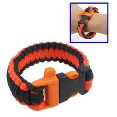 550 Paracord Weave Survival Bracelet with Whistle Buckle