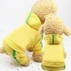 2 PCS Pet Dog Clothes For Dogs Overalls Pet Jumpsuit Puppy Cat Clothing For Dog Coat Thick Pets Dogs Clothing, Size:XS (Yellow)