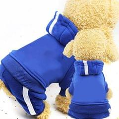 2 PCS Pet Dog Clothes For Dogs Overalls Pet Jumpsuit Puppy Cat Clothing For Dog Coat Thick Pets Dogs Clothing, Size:XS (Blue)