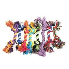 Pets dogs pet supplies Pet Dog Puppy Cotton Chew Knot Toy Durable Braided Bone Rope Funny Tool, Random Color Delivery (12cm)