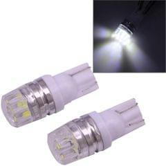 2 PCS T10 1.5W 60LM 1 LED Dark Blue COB LED Brake Light for Vehicles, DC12V (White)