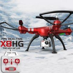 SYMA X8HG 4-Channel 2.4GHz Radio Control Quadcopter with 8.0MP 1080P HD Camera & 6-axis Gyro & LED Light (Red)