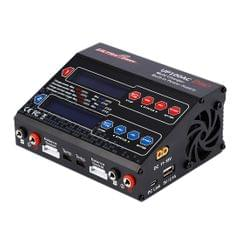 UP100AC Dual Port LiPo 100Watt 10/6Amp AC DC Balancing Battery Charger with Power Supply (Black)