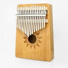 17-tone Kalimba Portable Thumb Piano, Style:Nan Bamboo-Sun God