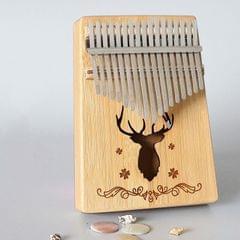 17-tone Kalimba Portable Thumb Piano, Style:Bamboo-Classic Deer