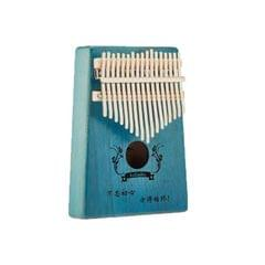 Rose Carimba 17 Notes Thumb Piano Beginner Finger Piano Musical Instrument (Blue)