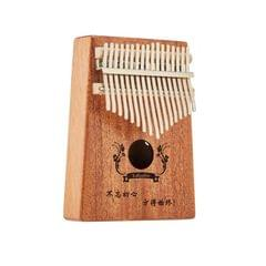 Rose Carimba 17 Notes Thumb Piano Beginner Finger Piano Musical Instrument (Wood Color)