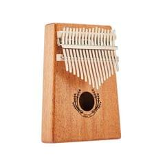 Suzuran Carimba 17 Notes Thumb Piano Beginner Finger Piano Musical Instrument (Wood Color)